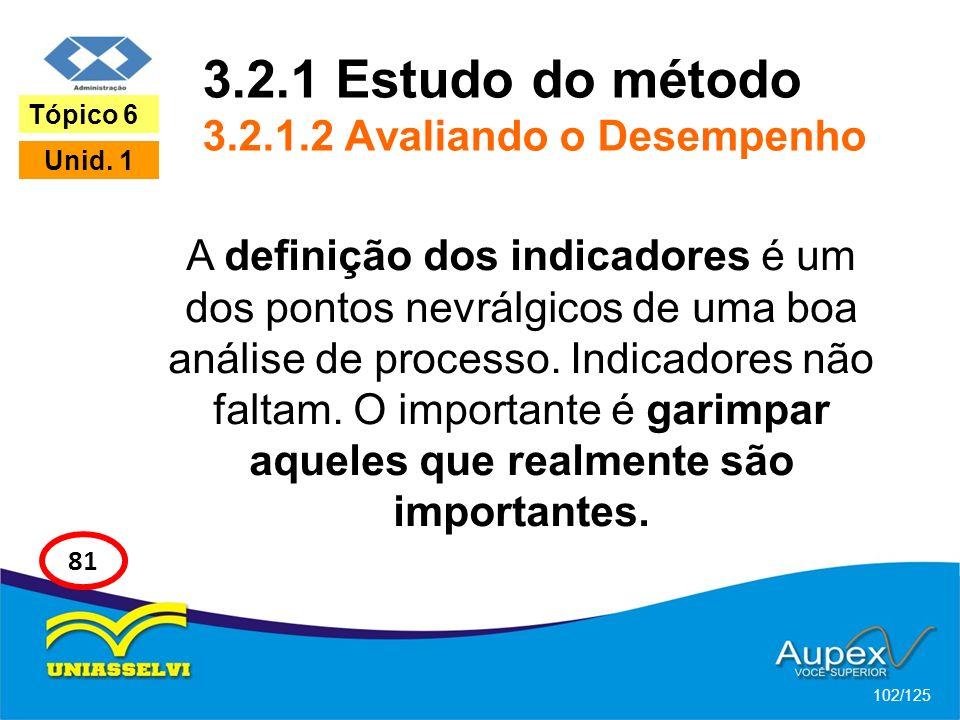 3.2.1 Estudo do método 3.2.1.2 Avaliando o Desempenho