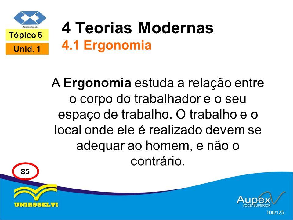 4 Teorias Modernas 4.1 Ergonomia