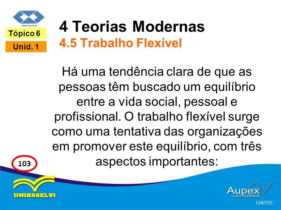 4 Teorias Modernas 4.5 Trabalho Flexível