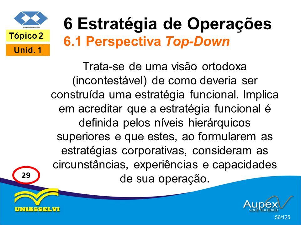 6 Estratégia de Operações 6.1 Perspectiva Top-Down