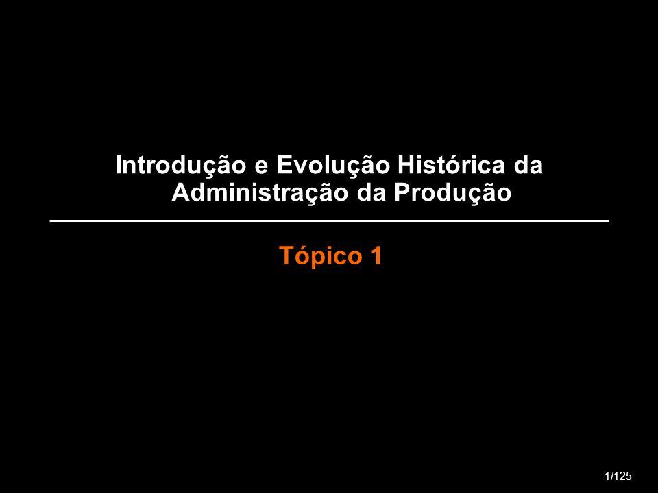 Introdução e Evolução Histórica da Administração da Produção