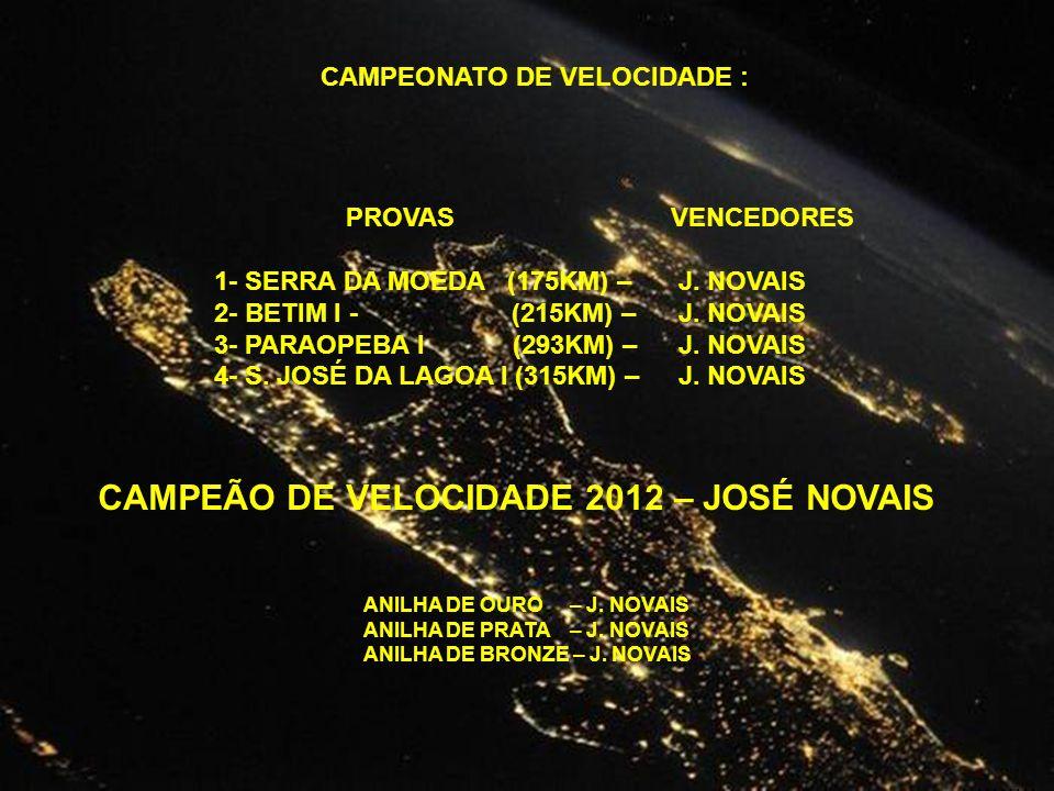 CAMPEONATO DE VELOCIDADE :