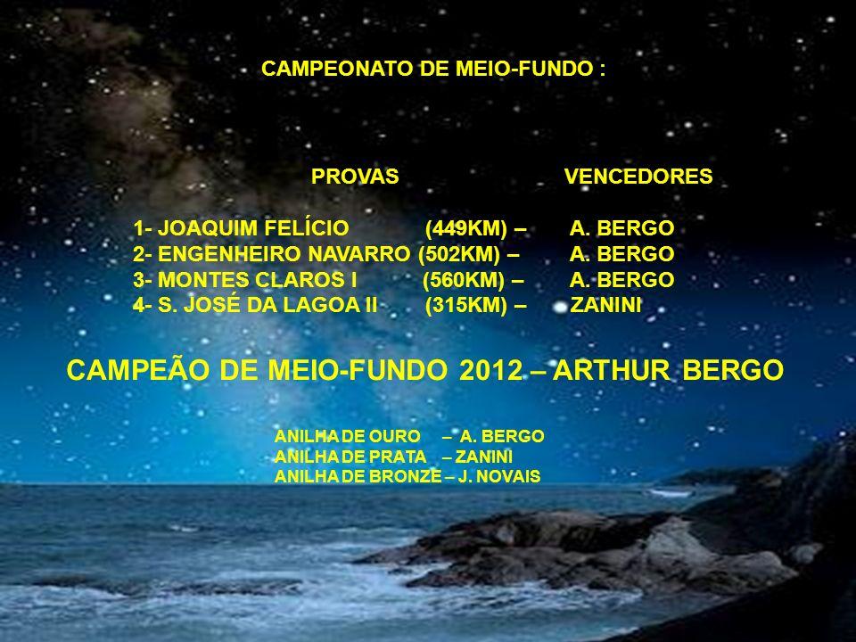 CAMPEÃO DE MEIO-FUNDO 2012 – ARTHUR BERGO