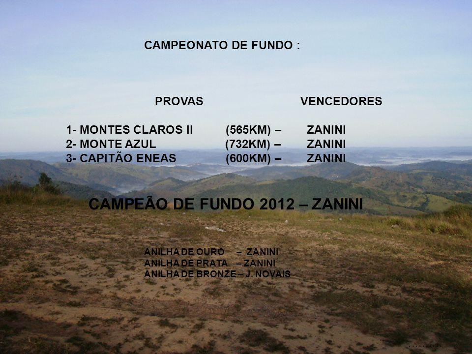 CAMPEÃO DE FUNDO 2012 – ZANINI