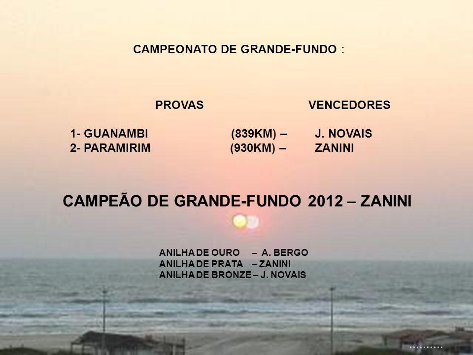 CAMPEÃO DE GRANDE-FUNDO 2012 – ZANINI