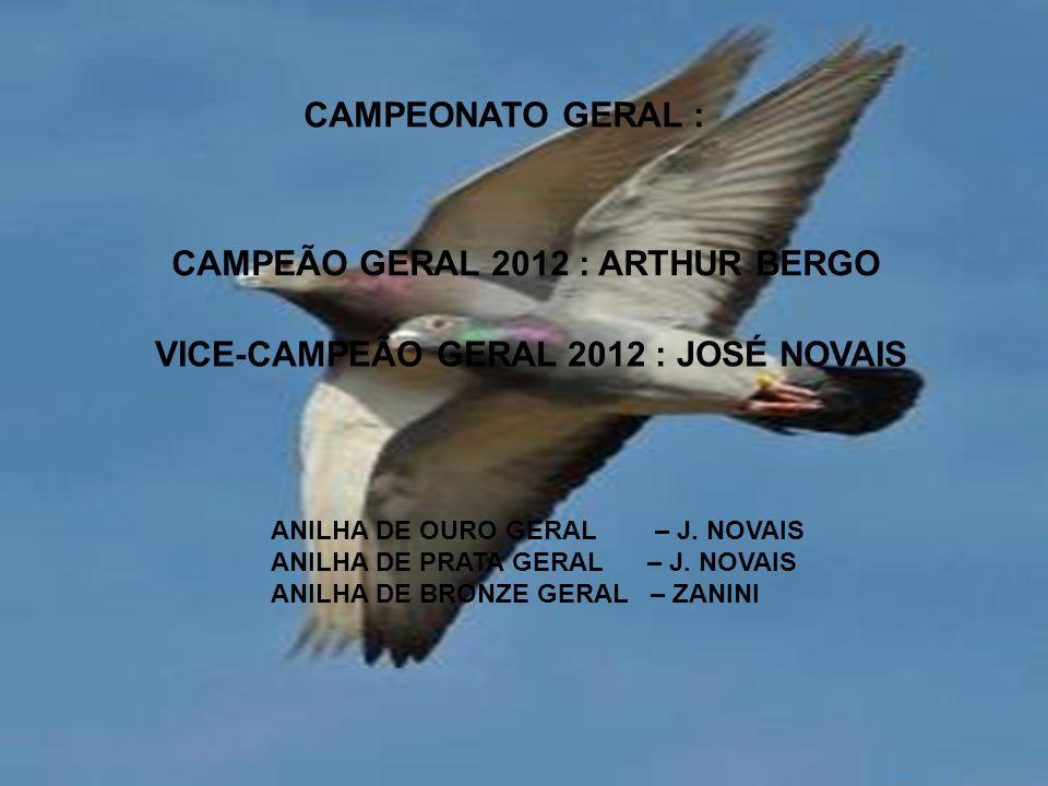 CAMPEÃO GERAL 2012 : ARTHUR BERGO