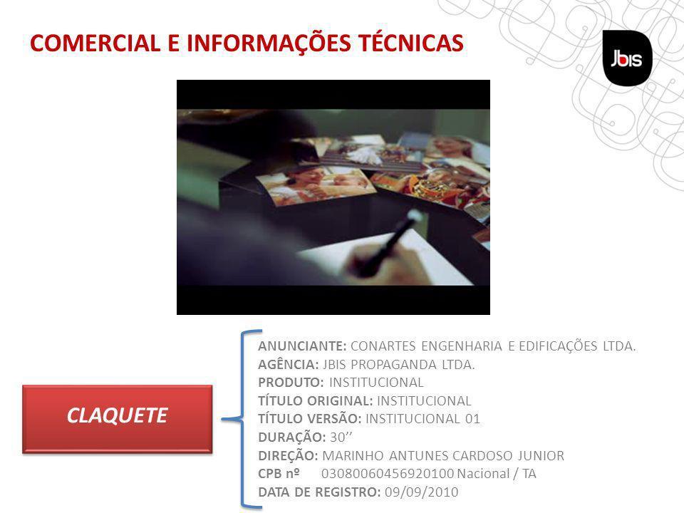 COMERCIAL E INFORMAÇÕES TÉCNICAS