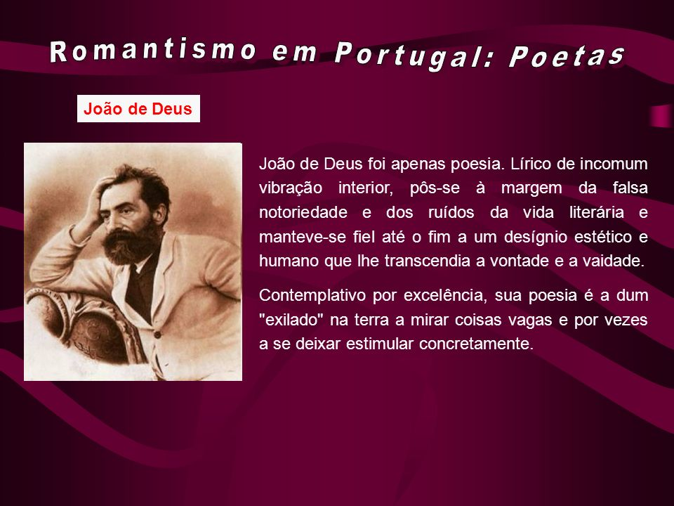 Romantismo em Portugal: Poetas