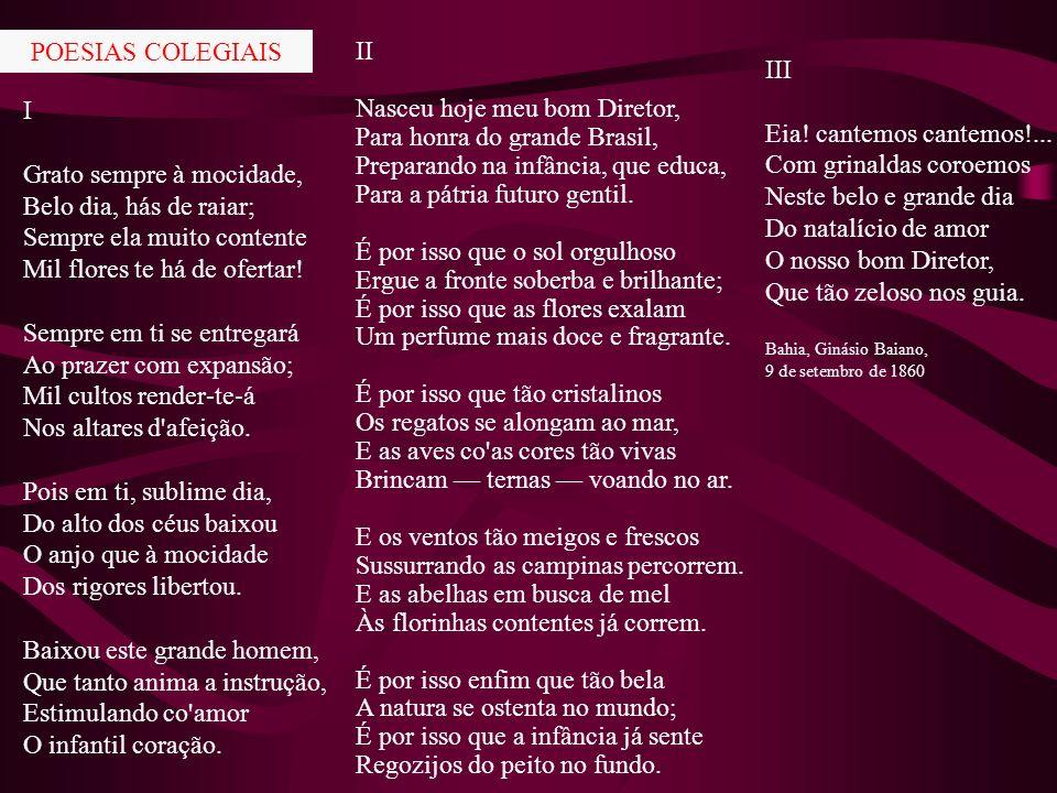 III POESIAS COLEGIAIS II