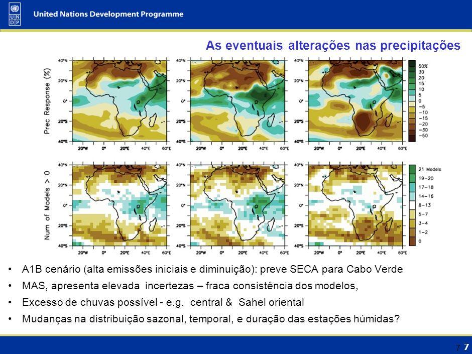 As eventuais alterações na Temperatura