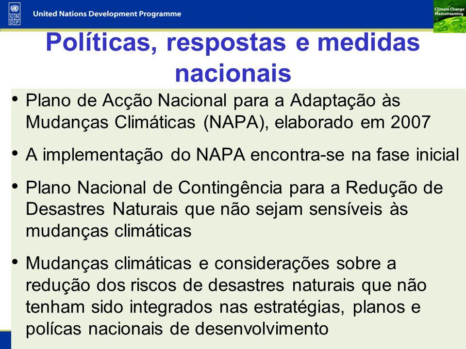Políticas, respostas e medidas nacionais