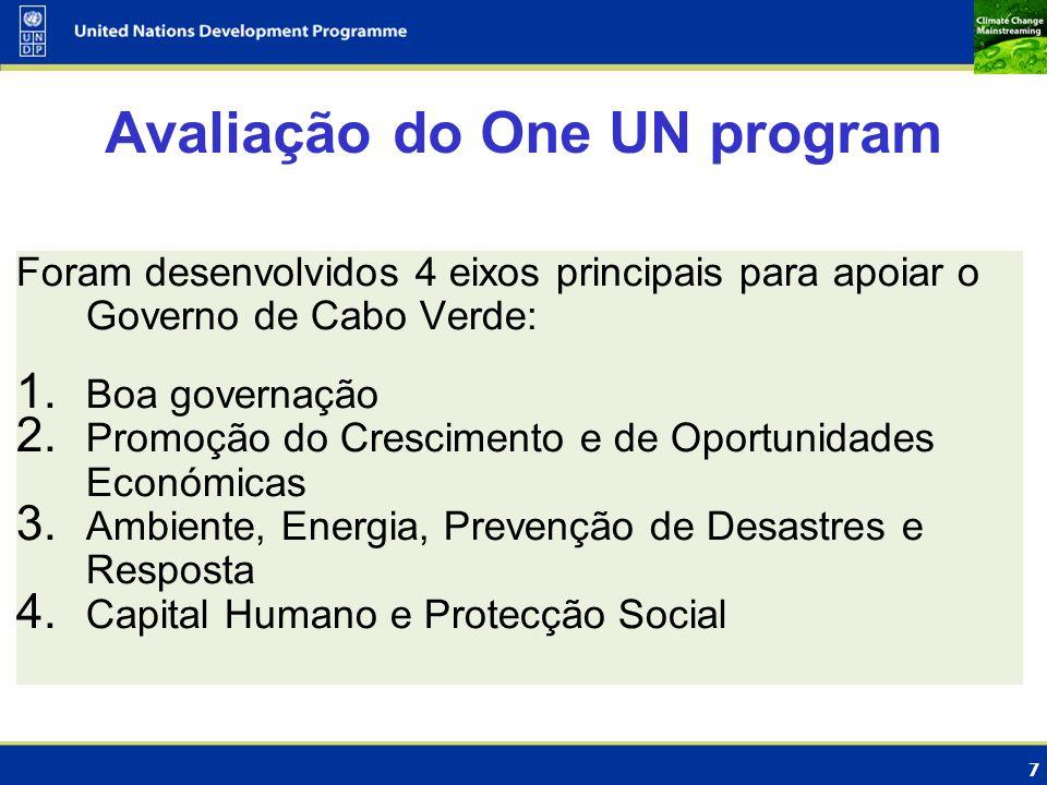Avaliação do One UN program