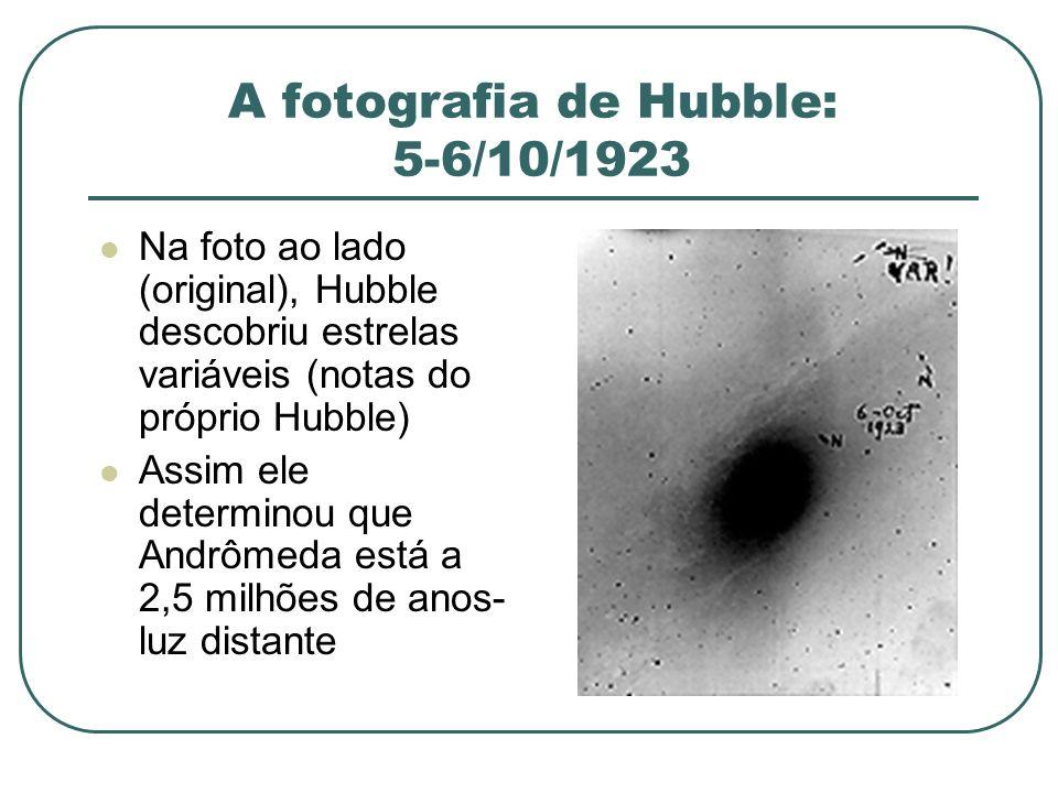 A fotografia de Hubble: 5-6/10/1923