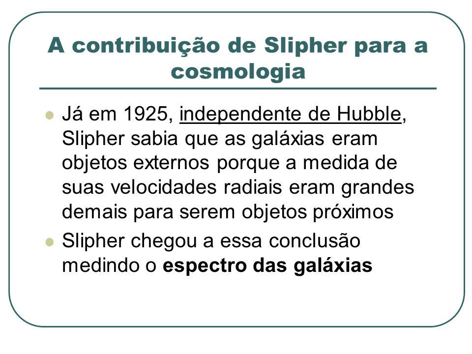 A contribuição de Slipher para a cosmologia