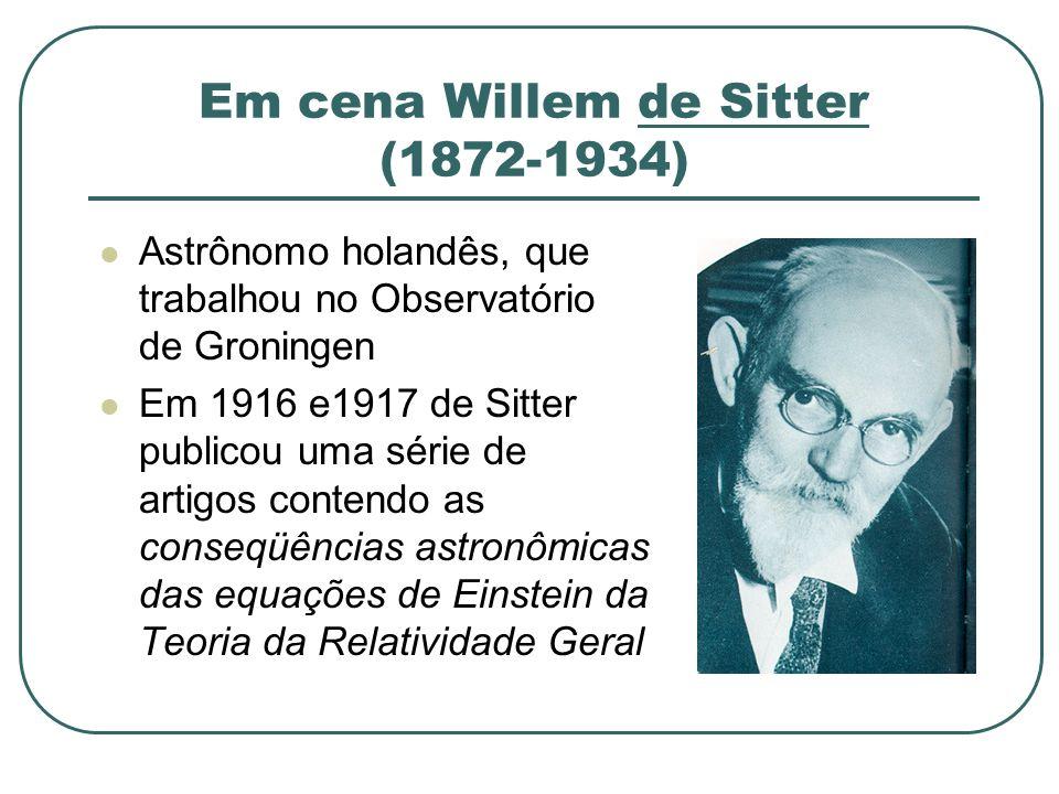 Em cena Willem de Sitter (1872-1934)