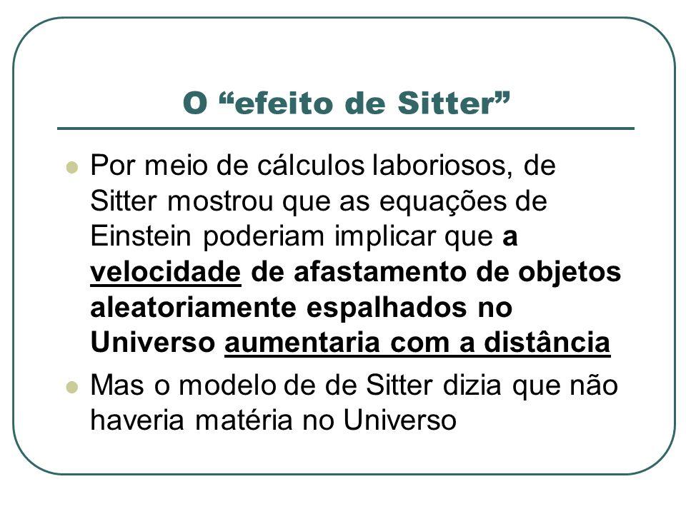 O efeito de Sitter