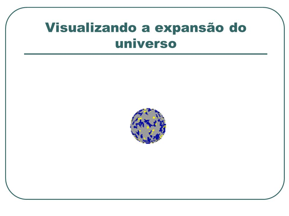 Visualizando a expansão do universo