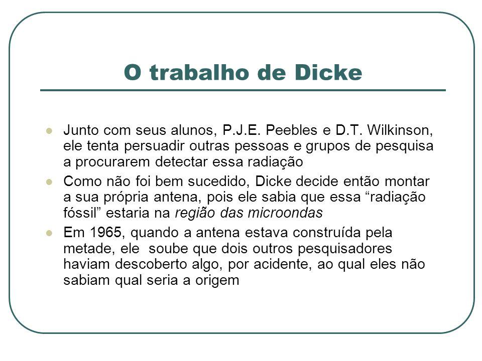 O trabalho de Dicke