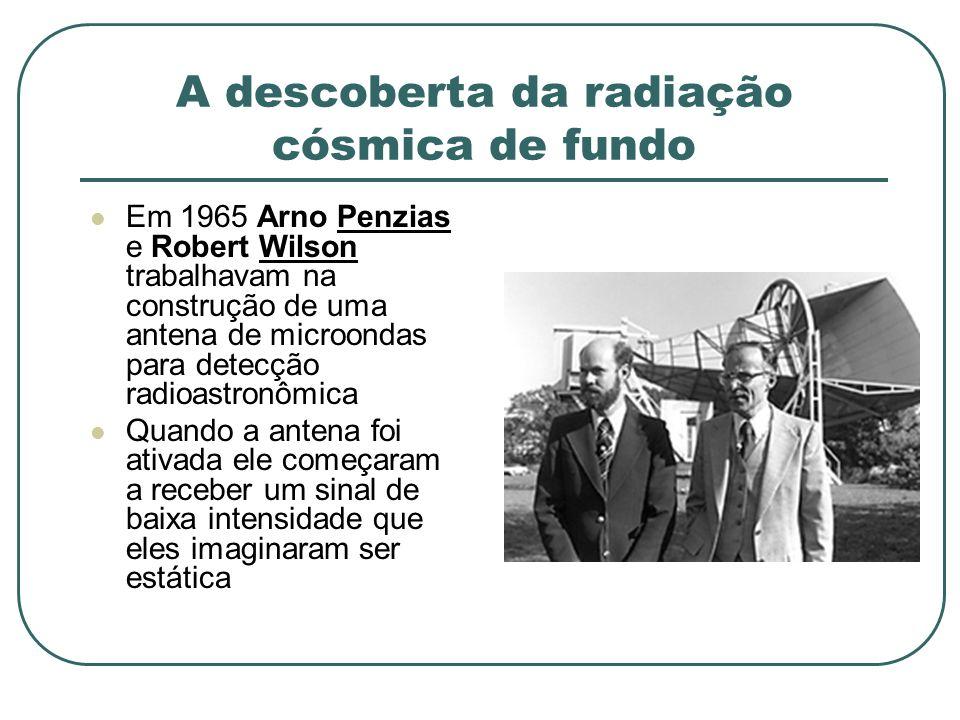 A descoberta da radiação cósmica de fundo