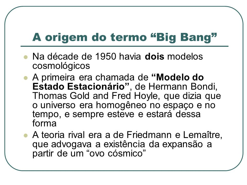 A origem do termo Big Bang