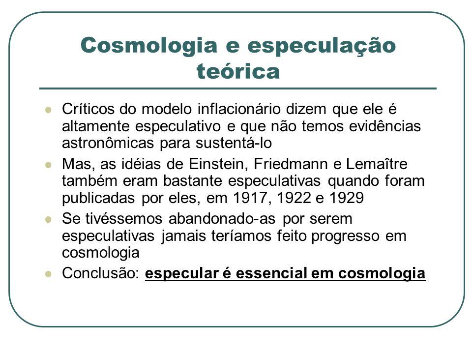 Cosmologia e especulação teórica