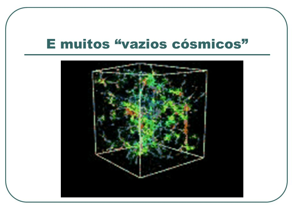 E muitos vazios cósmicos