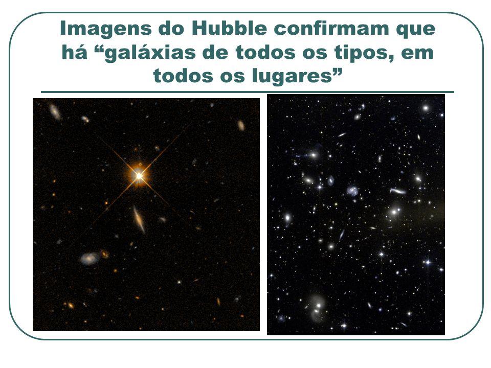 Imagens do Hubble confirmam que há galáxias de todos os tipos, em todos os lugares
