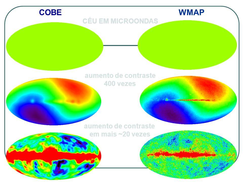 COBE WMAP CÉU EM MICROONDAS aumento de contraste 400 vezes