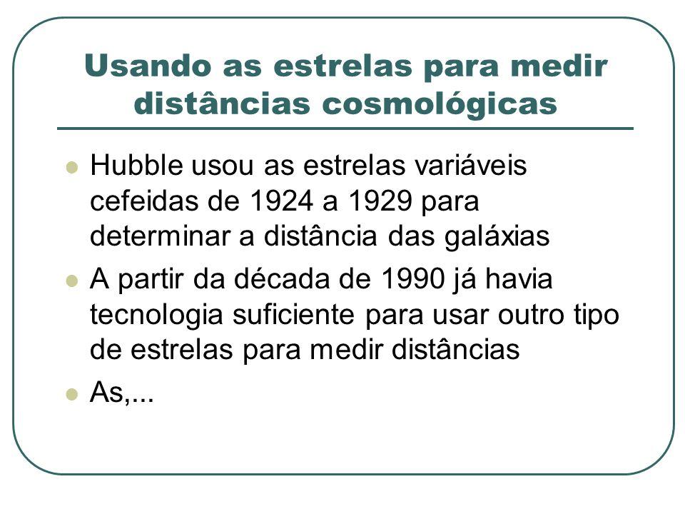 Usando as estrelas para medir distâncias cosmológicas