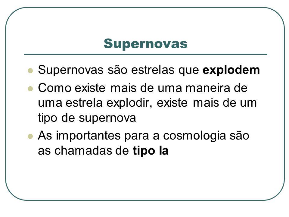 Supernovas Supernovas são estrelas que explodem