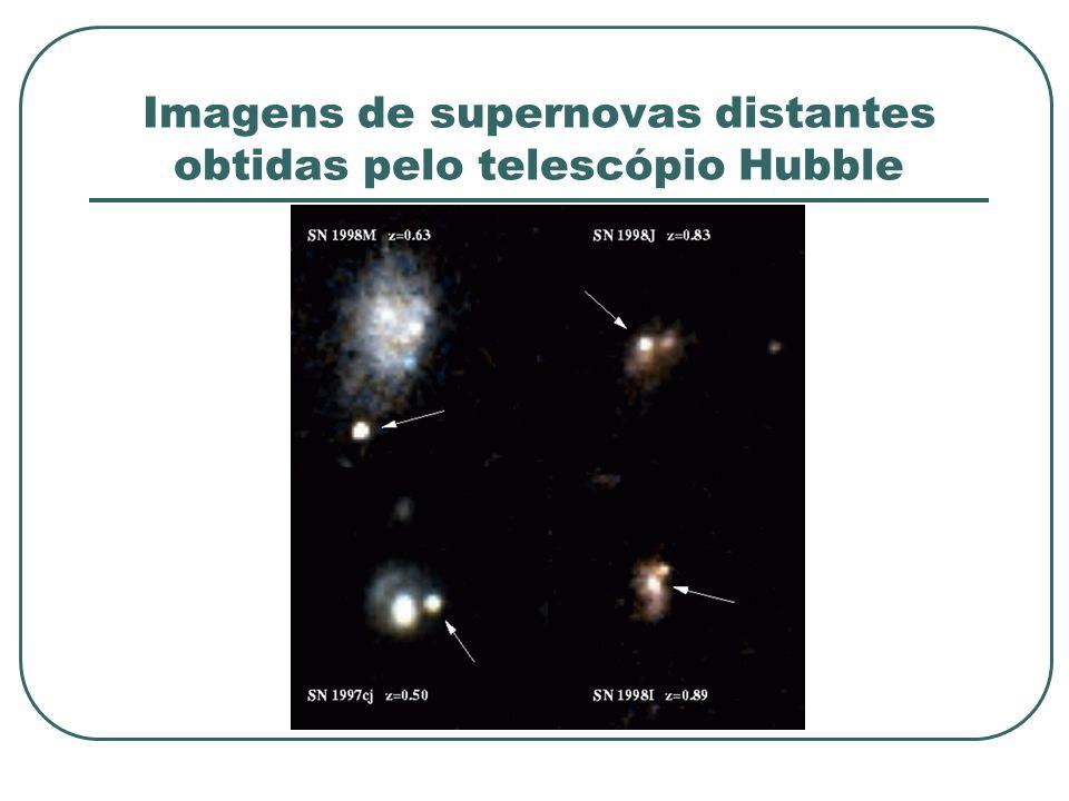 Imagens de supernovas distantes obtidas pelo telescópio Hubble