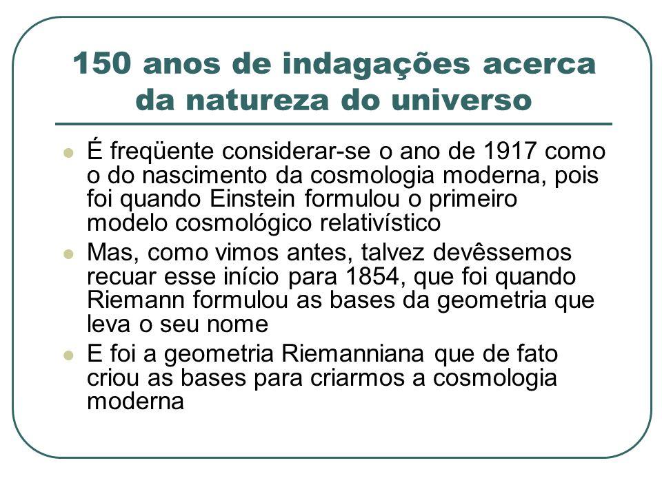 150 anos de indagações acerca da natureza do universo