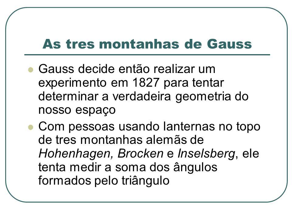 As tres montanhas de Gauss