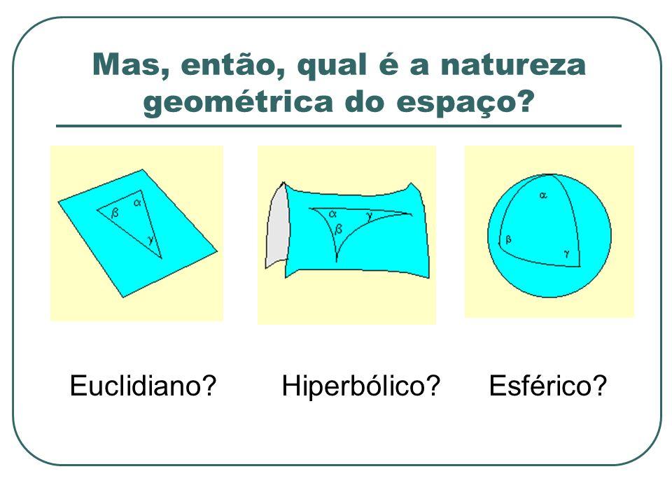 Mas, então, qual é a natureza geométrica do espaço