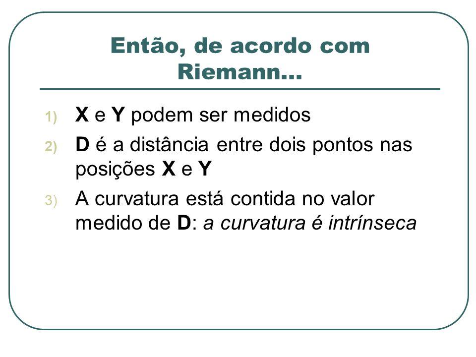 Então, de acordo com Riemann...