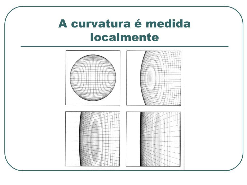 A curvatura é medida localmente