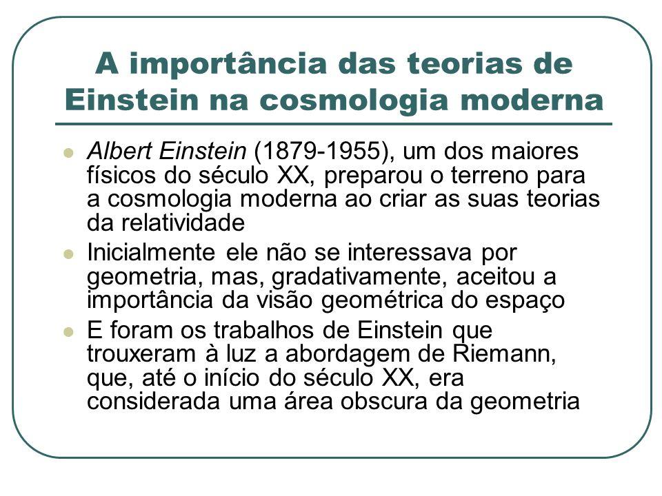A importância das teorias de Einstein na cosmologia moderna