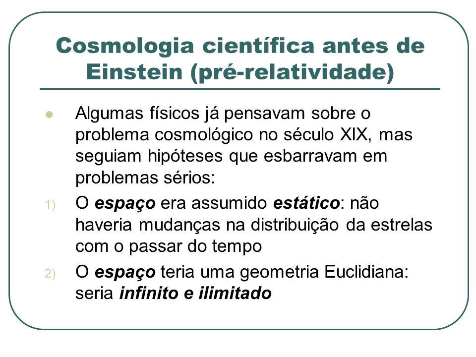 Cosmologia científica antes de Einstein (pré-relatividade)