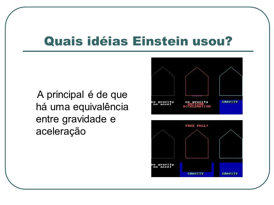 Quais idéias Einstein usou