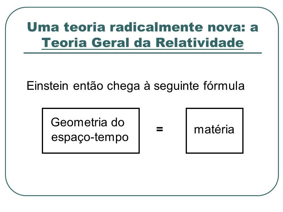 Uma teoria radicalmente nova: a Teoria Geral da Relatividade