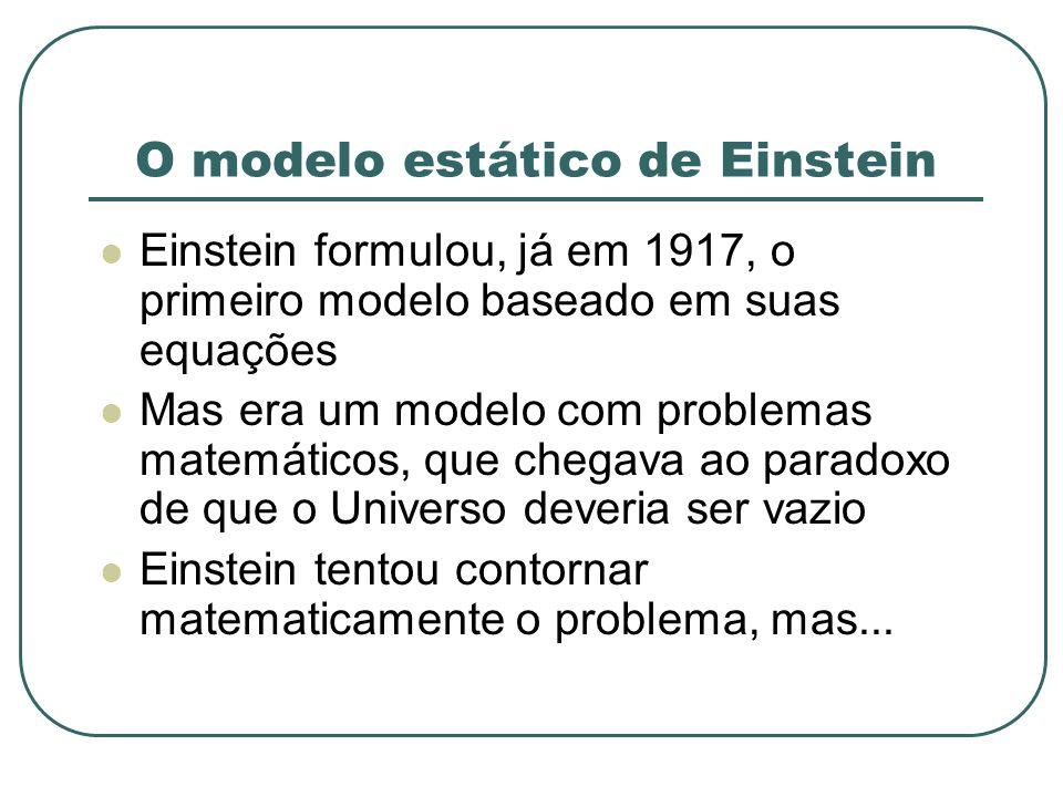 O modelo estático de Einstein