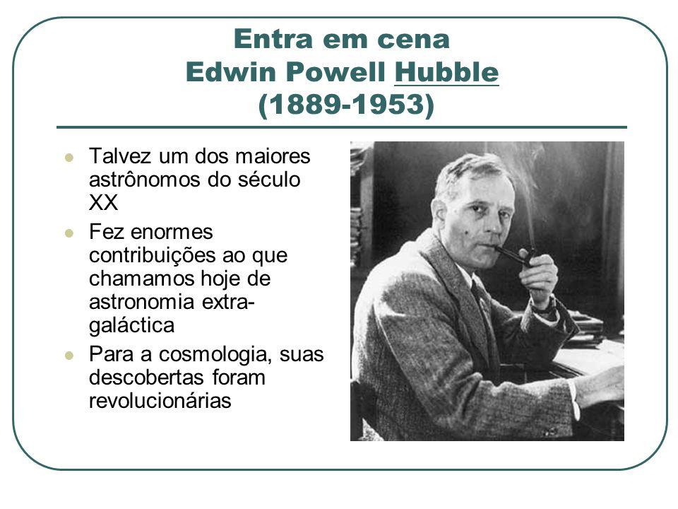 Entra em cena Edwin Powell Hubble (1889-1953)