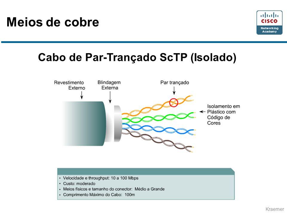 Meios de cobre Cabo de Par-Trançado ScTP (Isolado)