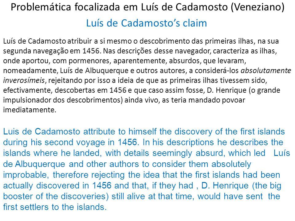 Problemática focalizada em Luís de Cadamosto (Veneziano)