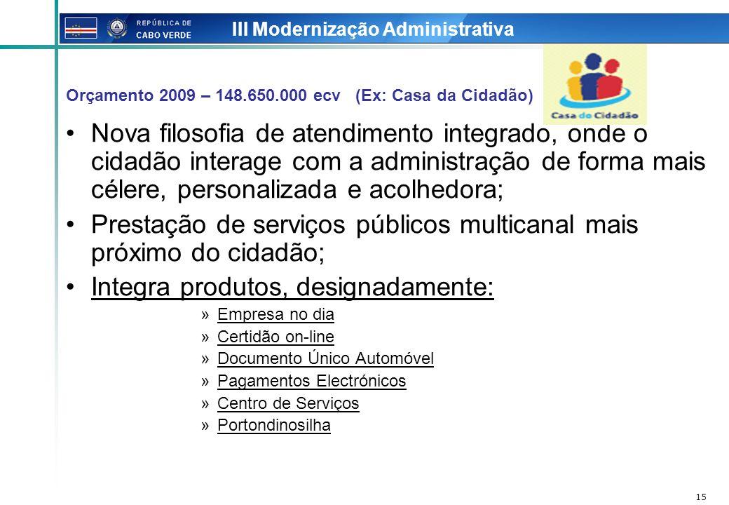 III Modernização Administrativa