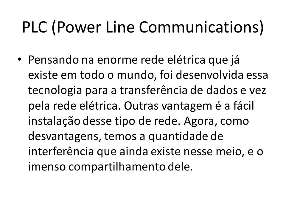 PLC (Power Line Communications)