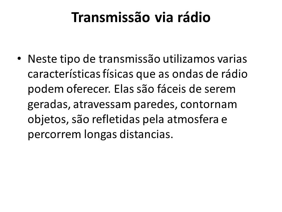 Transmissão via rádio