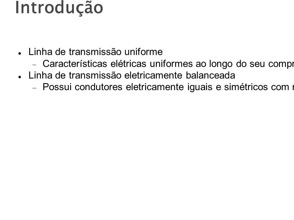 Introdução Linha de transmissão uniforme