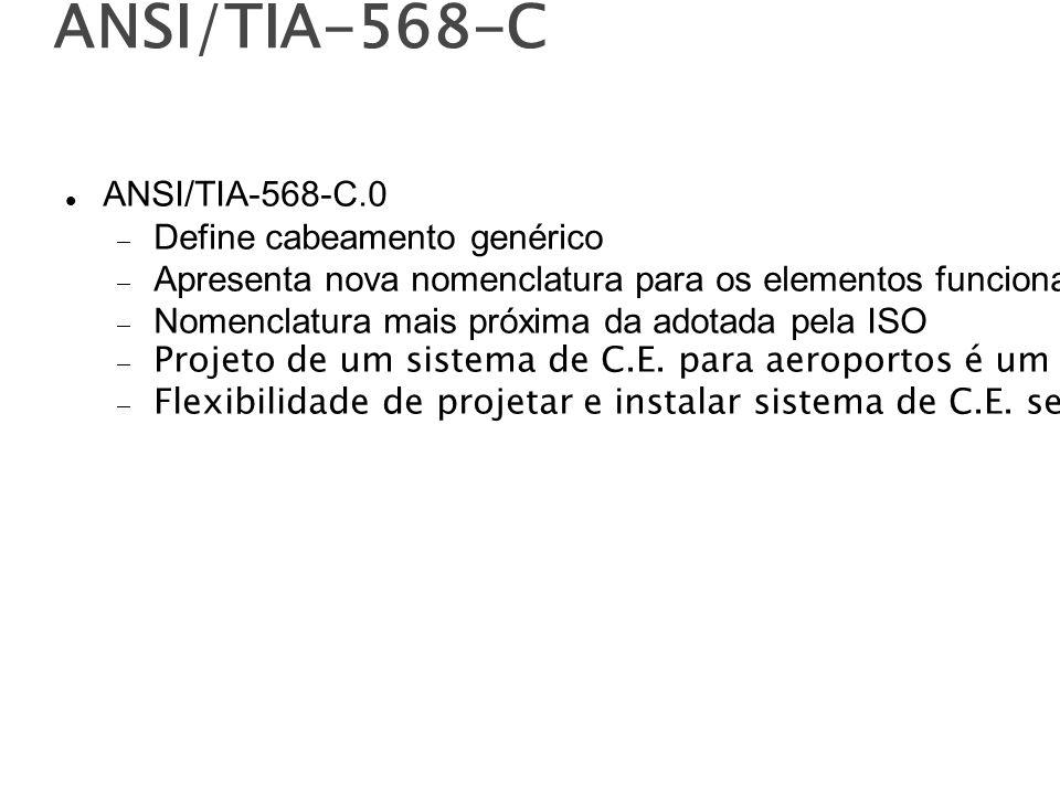 ANSI/TIA-568-C ANSI/TIA-568-C.0 Define cabeamento genérico
