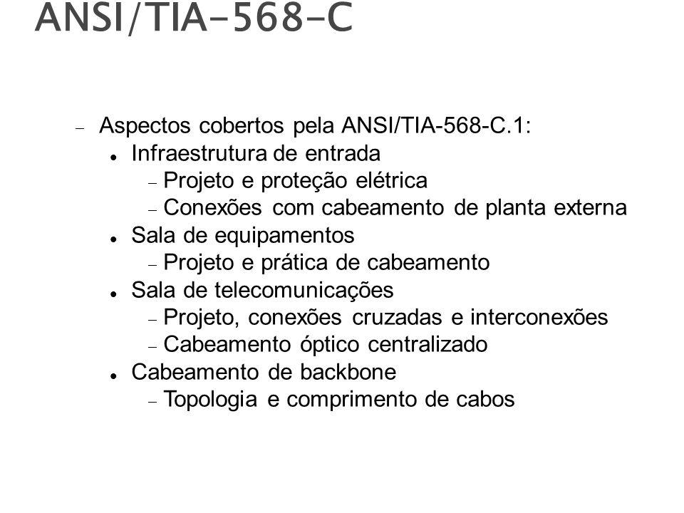 ANSI/TIA-568-C Aspectos cobertos pela ANSI/TIA-568-C.1: